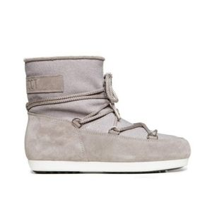 Moon Boot F. Side Low Suede Glitter Gray Boots
